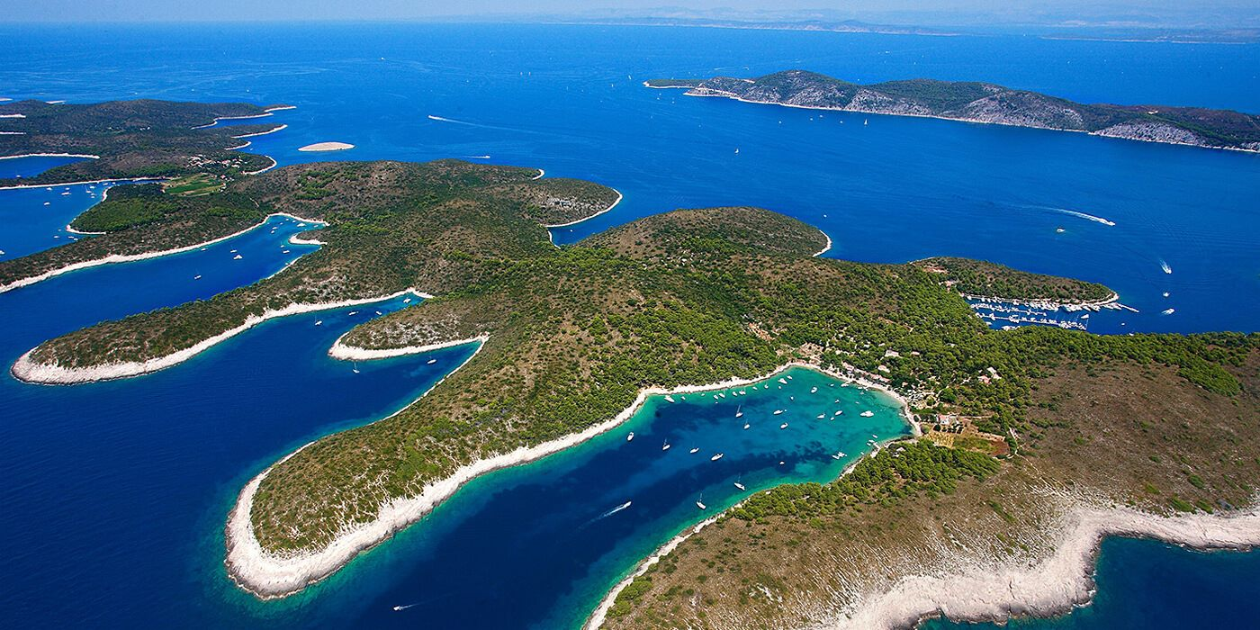 Hvar - Pakleni islands from air